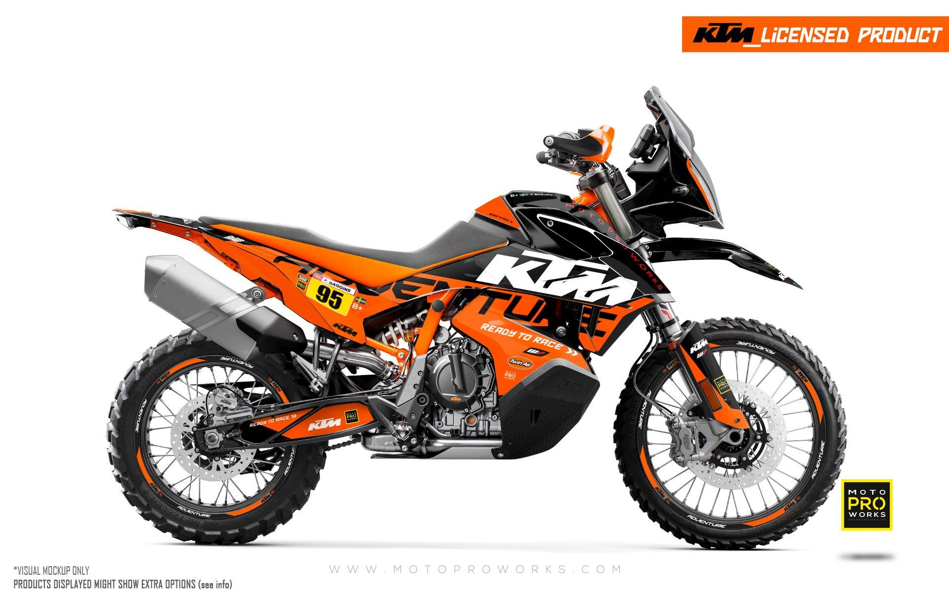 "KTM 790 Adventure R GRAPHIC KIT - ""Waypointer"" (Midnight)"