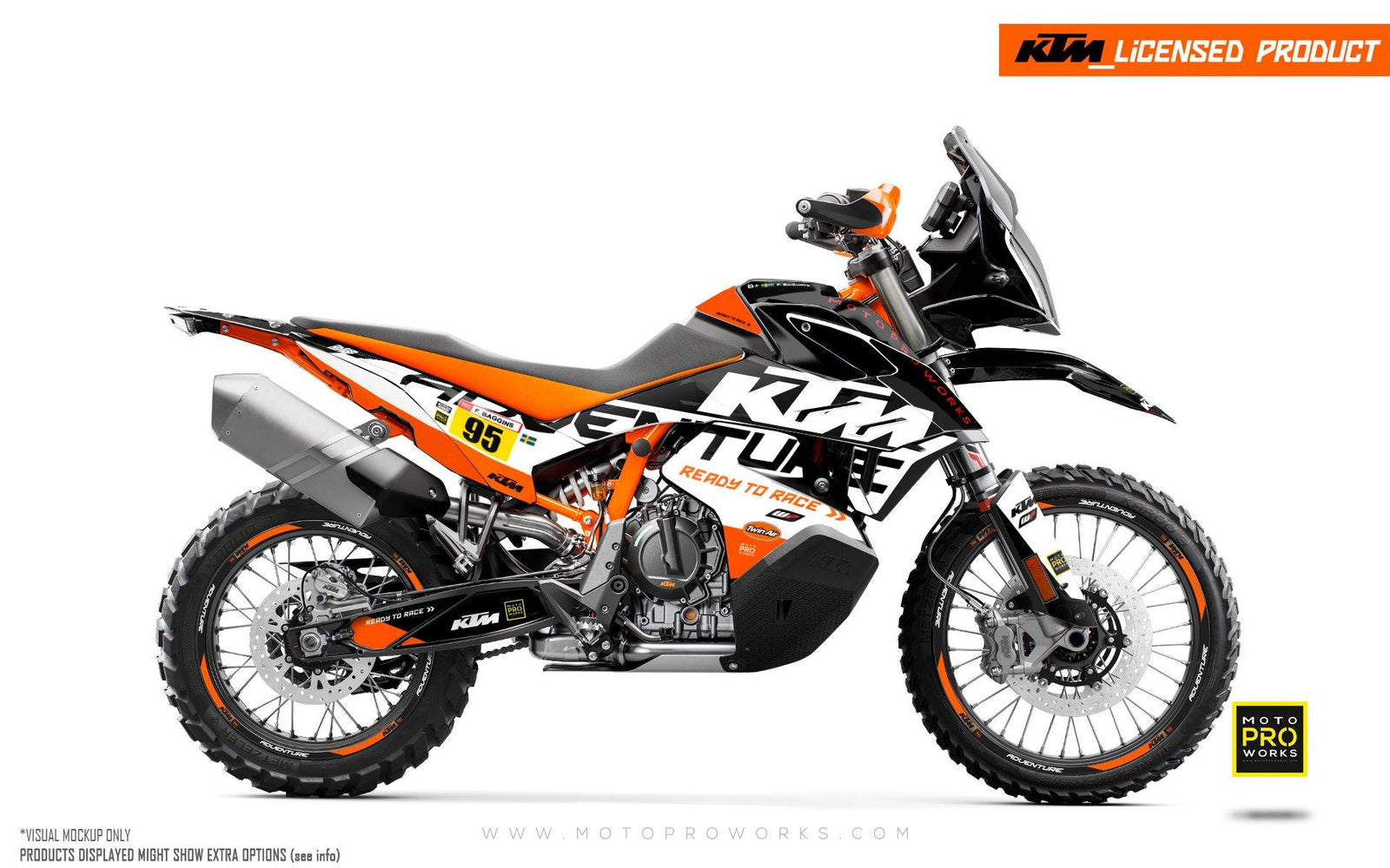 Enduro Graphics Sticker Personalised Deco Kit for 950 990 Adventure 2003 to 2016