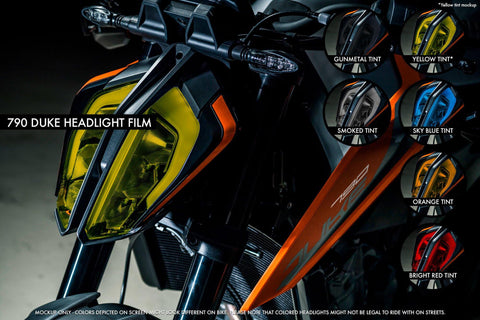 KTM 790 Duke Premium Headlight tinted film