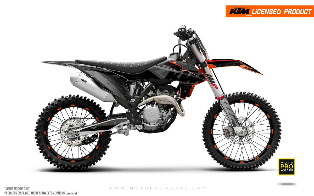 "KTM GRAPHIC KIT - EXC/SX ""RR-Tech"" (Black)"