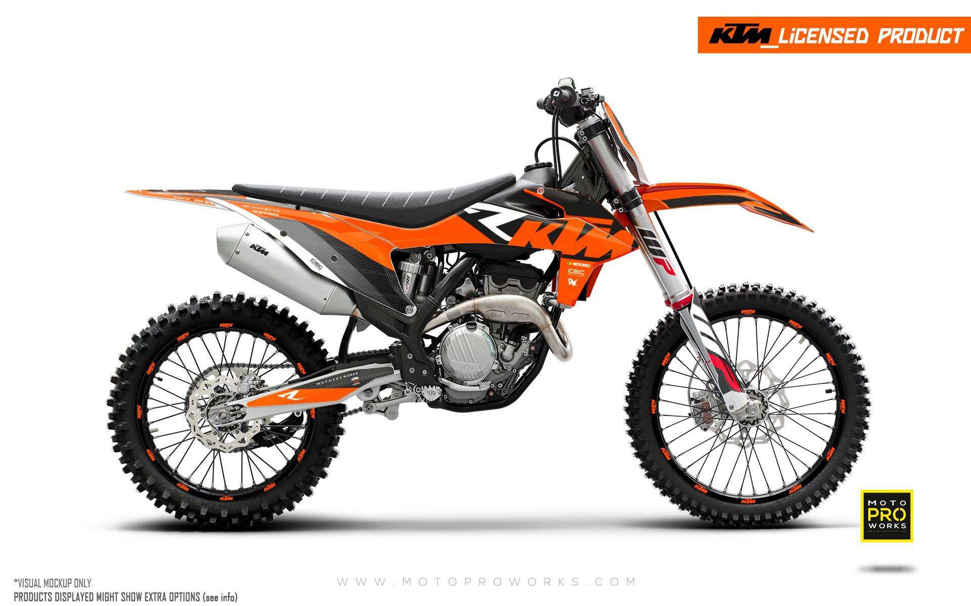 "KTM GRAPHIC KIT - EXC/SX ""RR-Tech"" (Orange)"