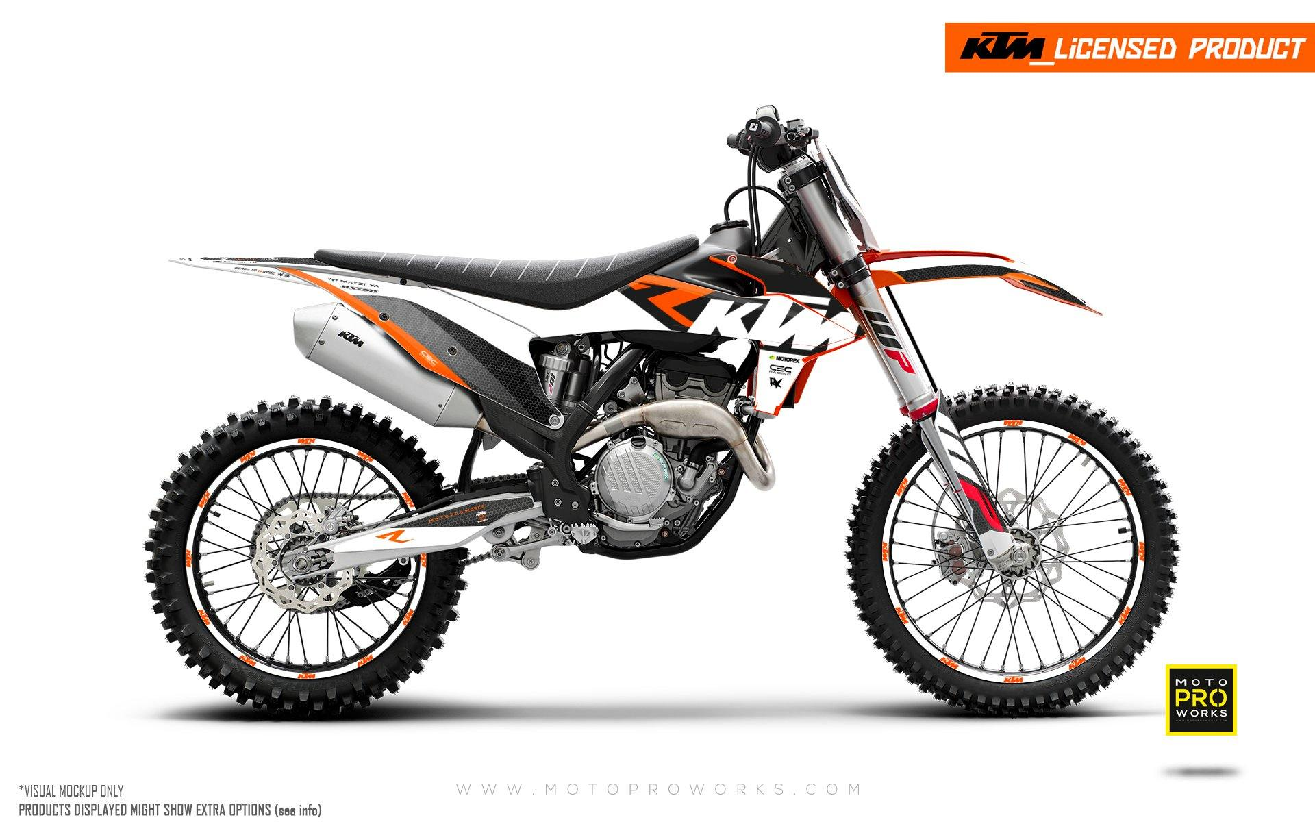 "KTM GRAPHIC KIT - EXC/SX ""RR-Tech"" (White)"