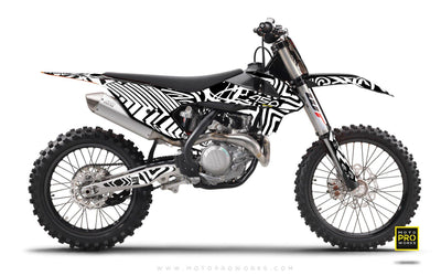 "KTM GRAPHIC KIT - ""ZEBRA"" (white) - MotoProWorks 