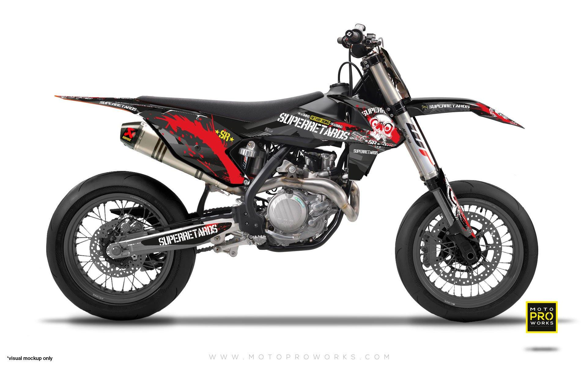 "KTM GRAPHIC KIT - ""SWKSR"" (Superretards Official) - MotoProWorks 