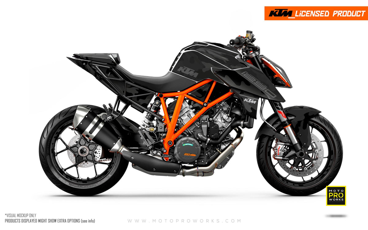 "KTM 1290 Super Duke R GRAPHIC KIT - ""Camo"" (Black)"