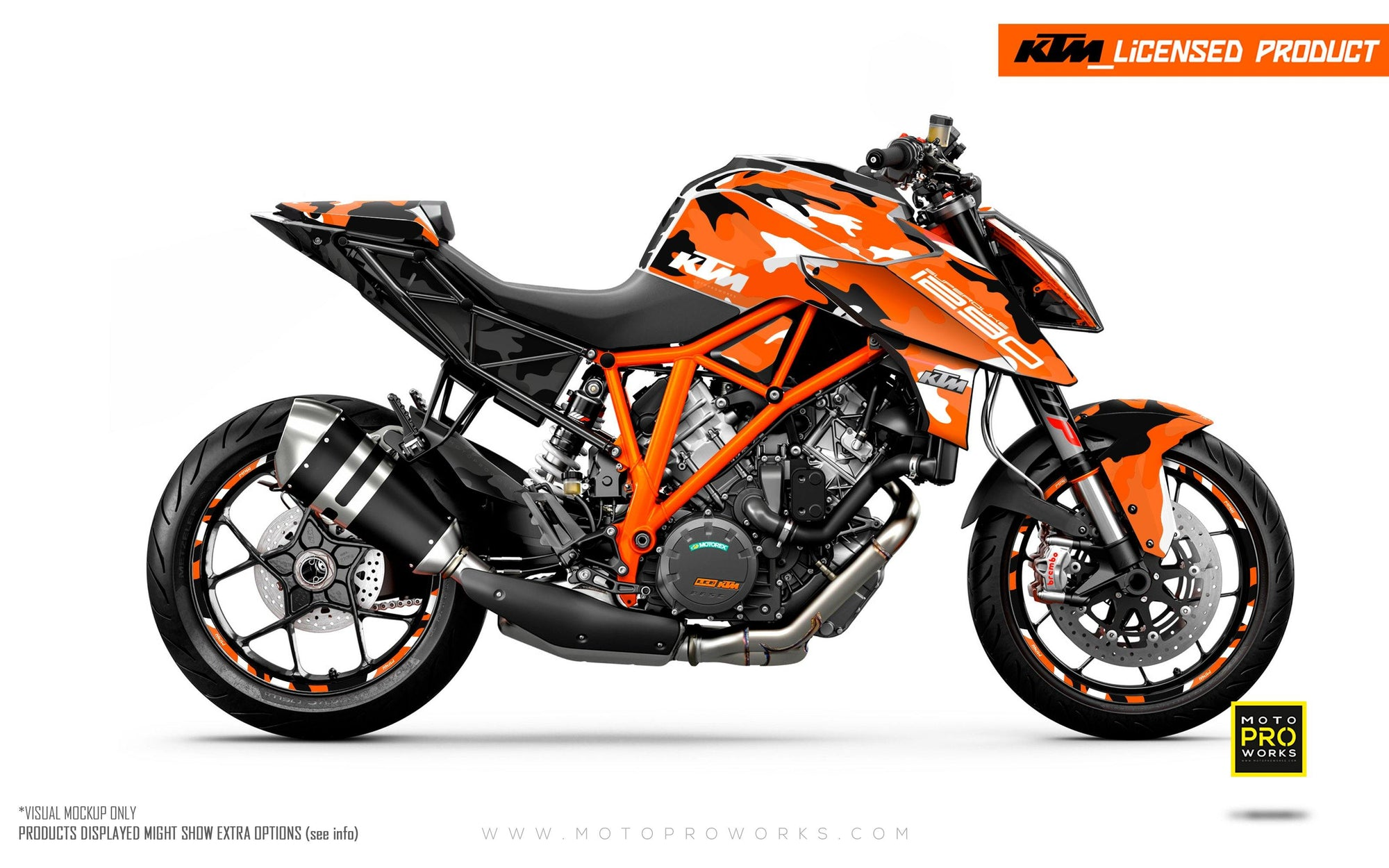 "KTM 1290 Super Duke R GRAPHIC KIT - ""Camo"" (Orange)"