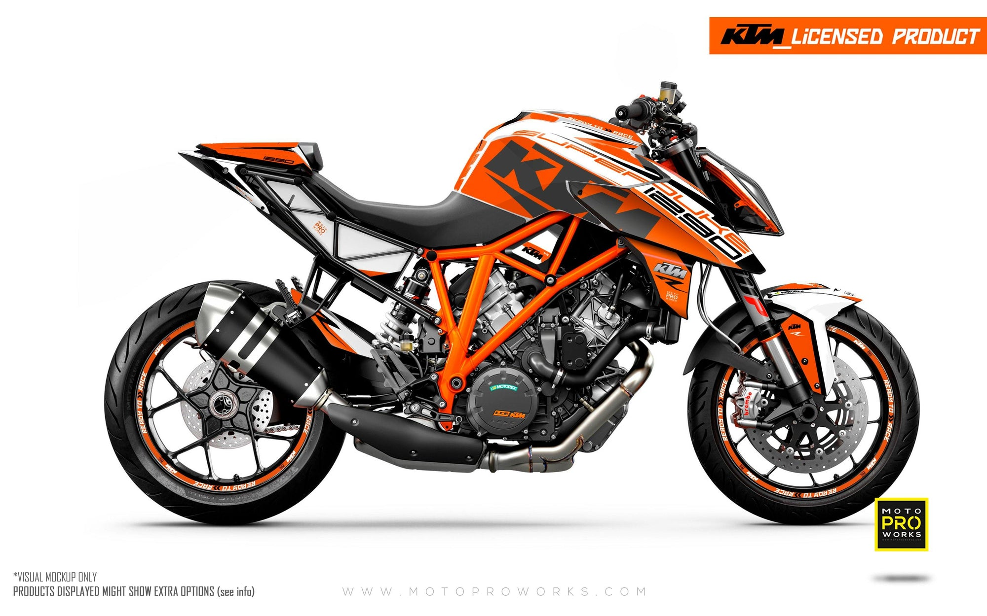 "KTM 1290 Super Duke R GRAPHIC KIT - ""Torque"" (Orange/White)"