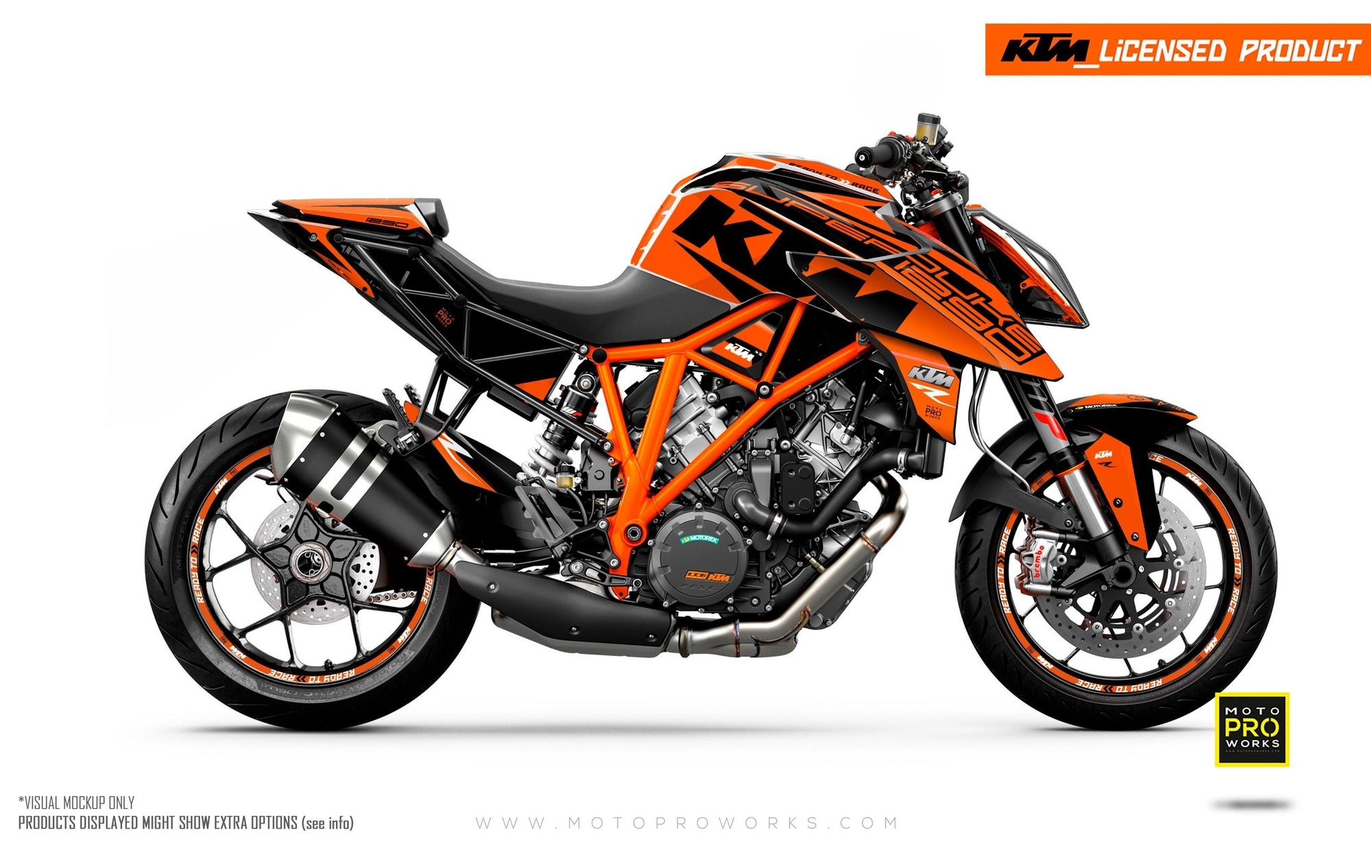 "KTM 1290 Super Duke R GRAPHIC KIT - ""Torque"" (Orange)"