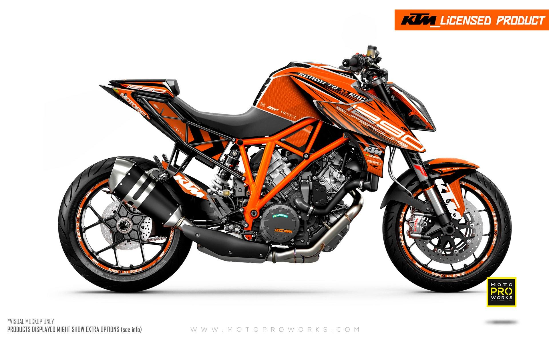 "KTM 1290 Super Duke R GRAPHIC KIT - ""Vortex"" (Orange)"