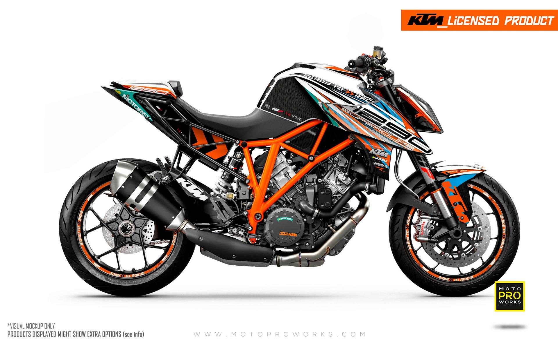 "KTM 1290 Super Duke R GRAPHIC KIT - ""Vortex"" (Qster)"