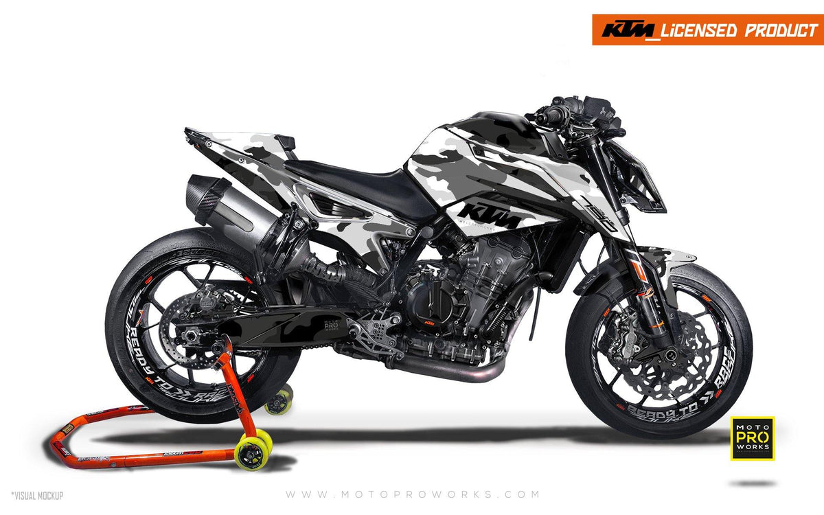 "KTM 790 Duke GRAPHIC KIT - ""Camouflage"" (City) - MotoProWorks 