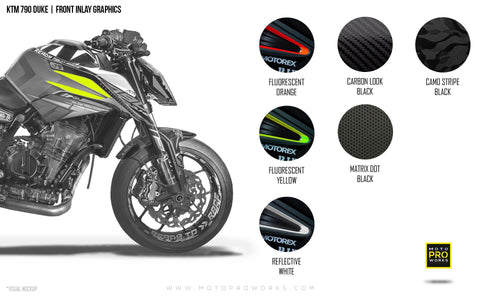 Front Inlay Graphics - KTM 790 Duke