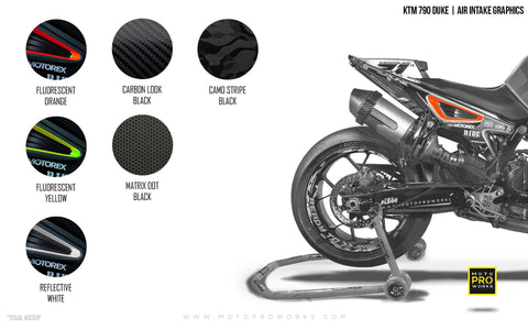 Air Intake Graphics - KTM 790 Duke - MotoProWorks | Decals and Bike Graphic kit