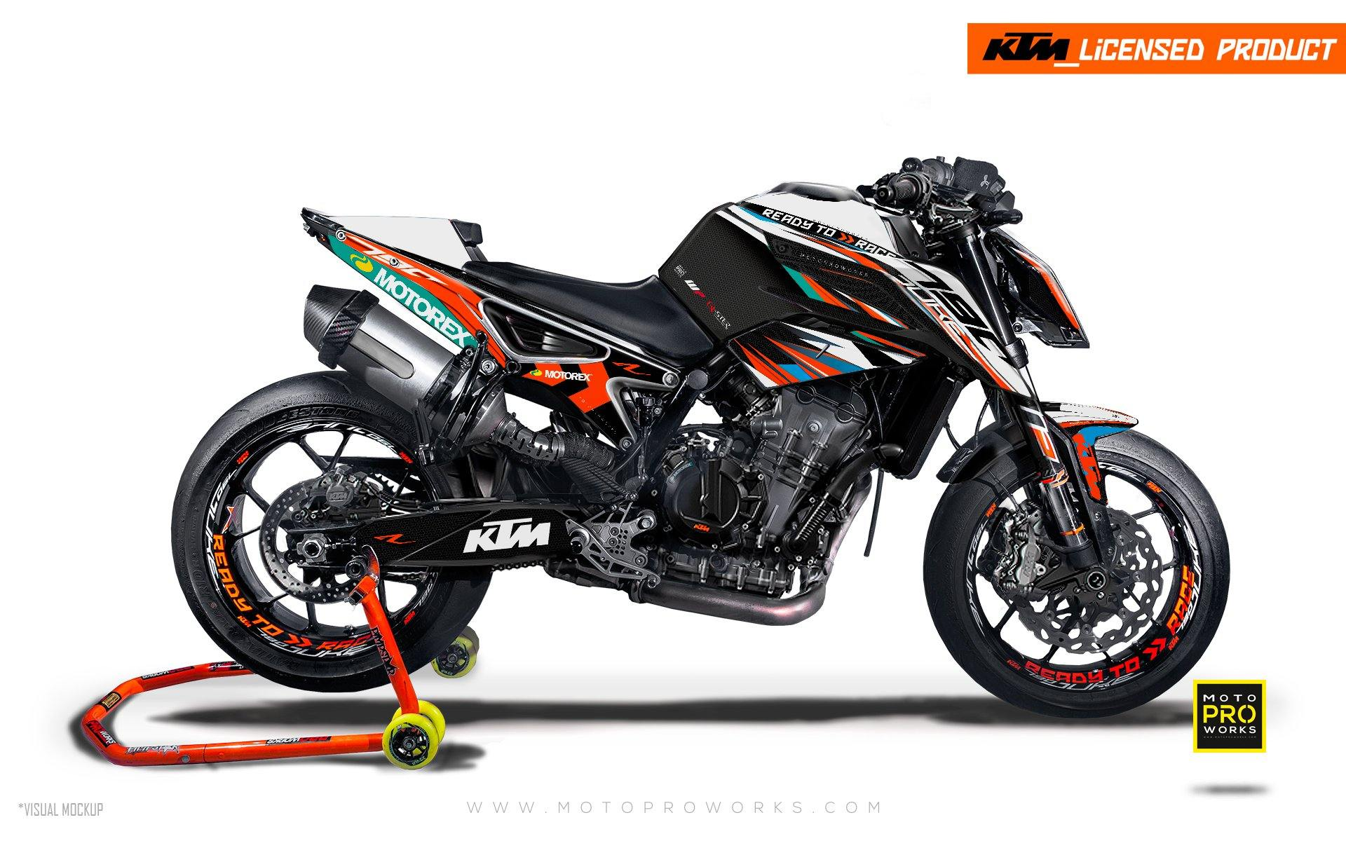 "KTM 790 Duke GRAPHIC KIT - ""Vortex"" (Qster)"
