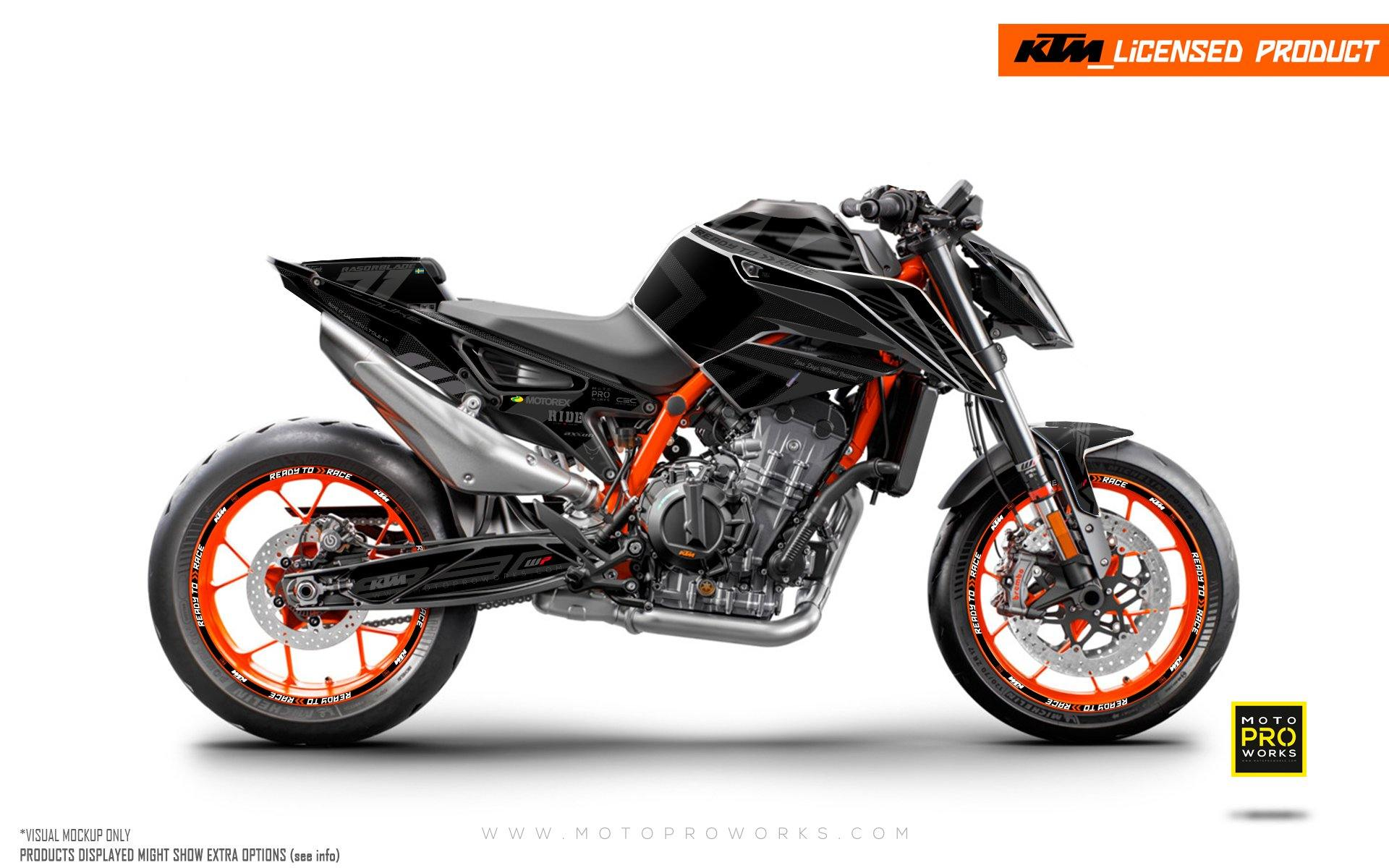 "KTM 890 Duke R GRAPHIC KIT - ""Rasorblade"" (Stealth)"