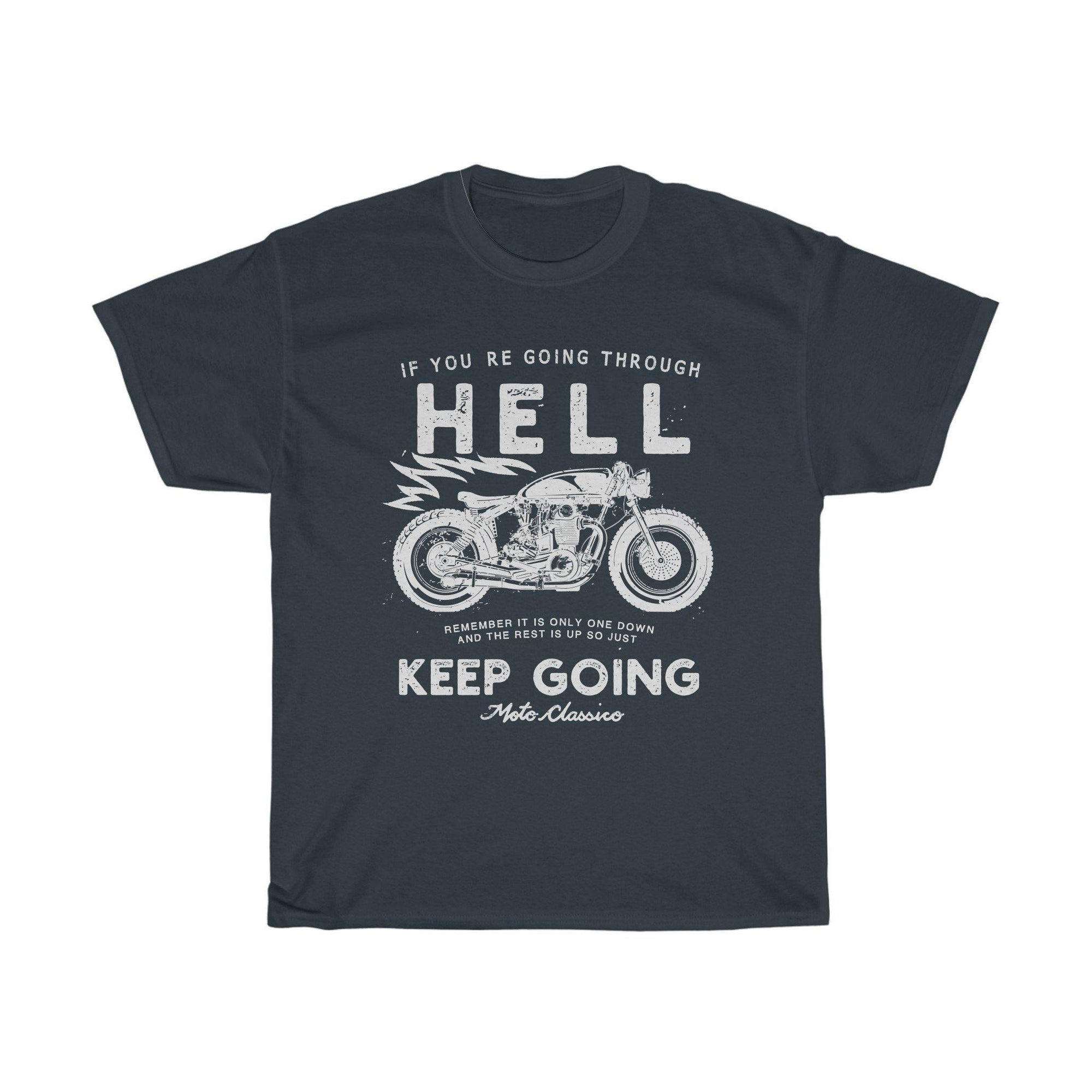 Go Through Hell, Black, Tee |  Motoclassico