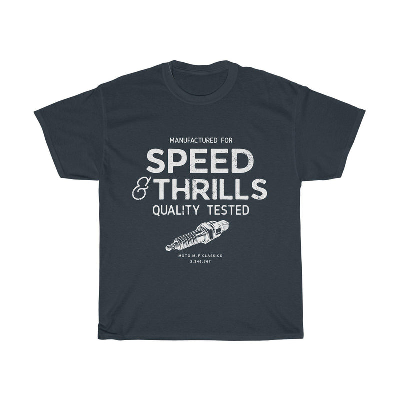Speed Thrill, Black, Tee |  Motoclassico