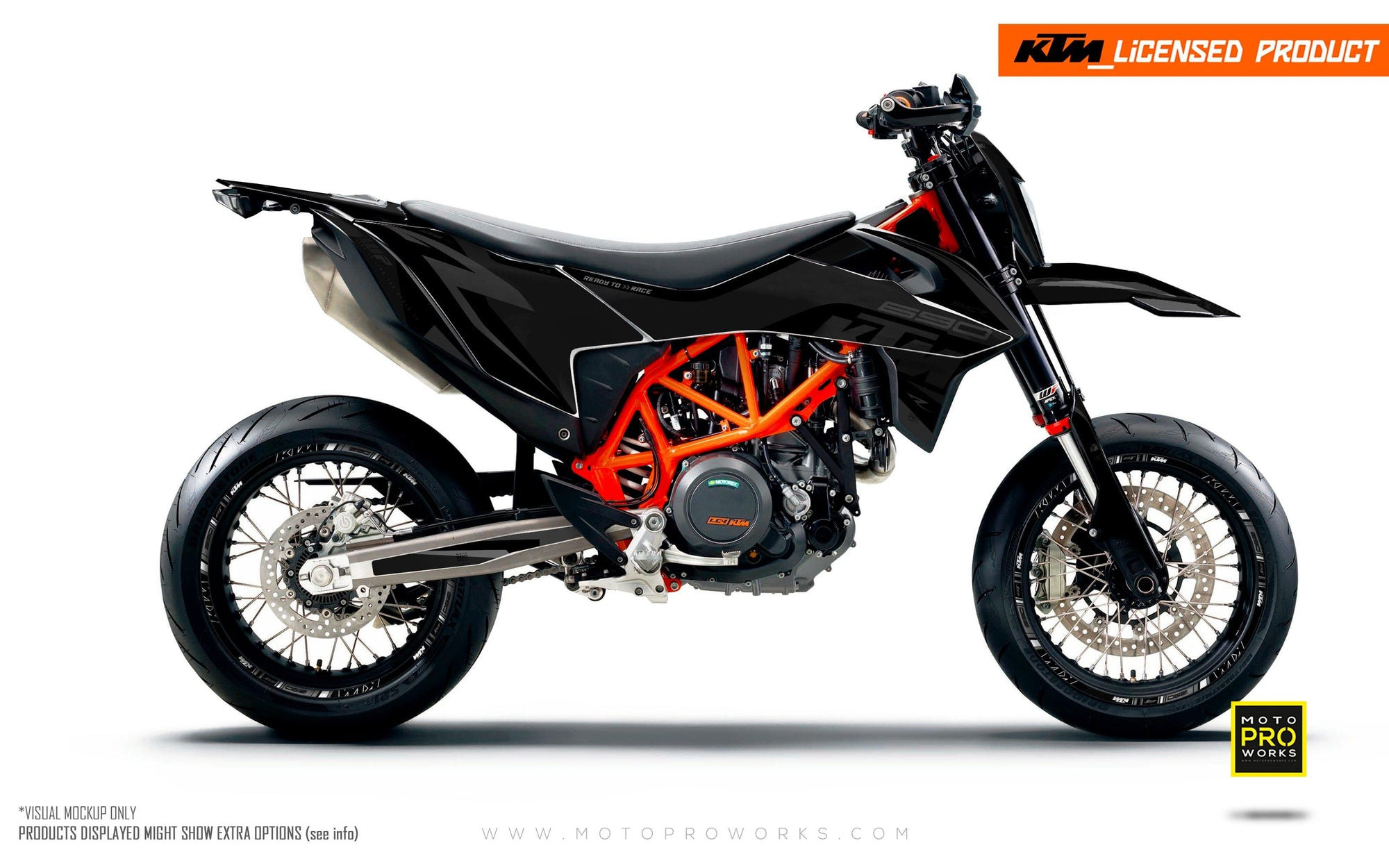 "KTM GRAPHIC KIT - ""Torque"" (Black)"