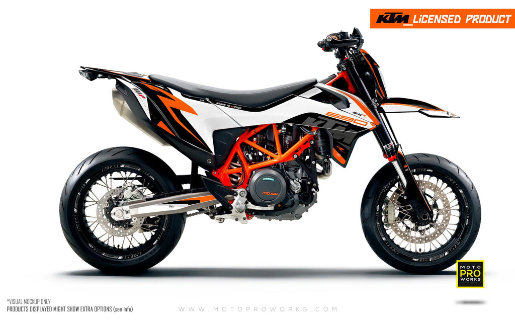 "KTM GRAPHIC KIT - ""Torque"" (White/Black/Orange)"