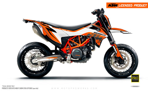 "KTM GRAPHIC KIT - ""Torque"" (White/Orange)"