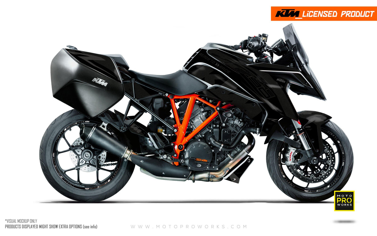 "KTM Superduke 1290GT GRAPHIC KIT - ""Torque"" (Black)"