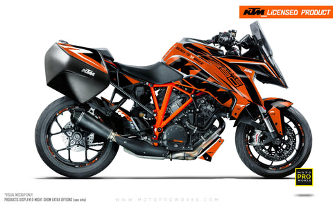"KTM Superduke 1290GT GRAPHIC KIT - ""Torque"" (Orange)"