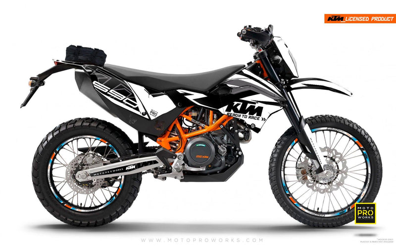 "KTM GRAPHIC KIT - ""ABSTRAKT"" (black/white) - MotoProWorks 