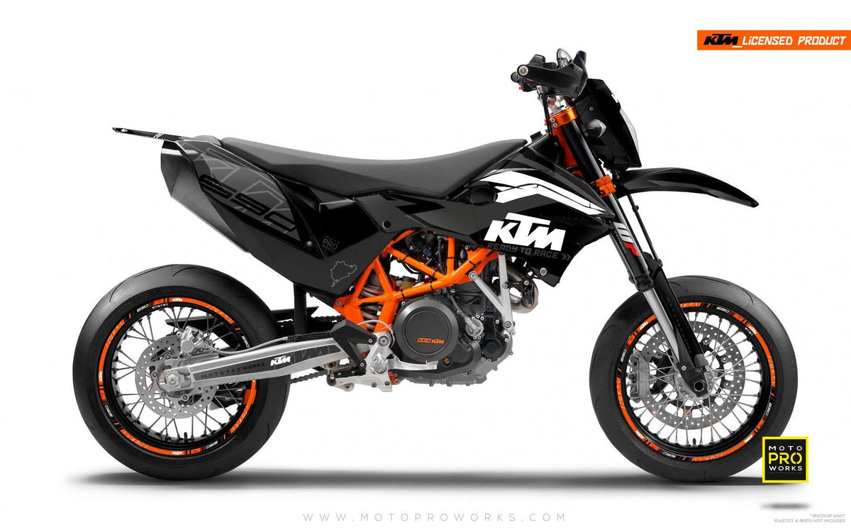 "KTM GRAPHIC KIT - ""ABSTRAKT"" (black/grey) - MotoProWorks 