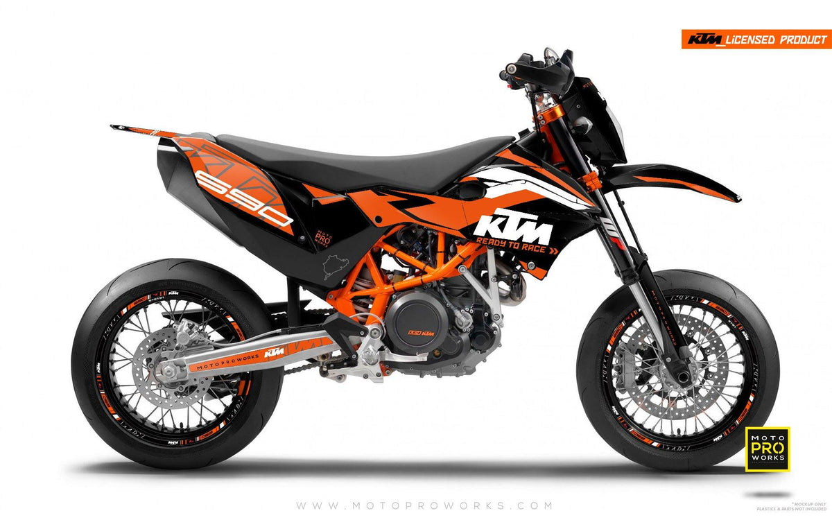 "KTM GRAPHIC KIT - ""ABSTRAKT"" (orange) - MotoProWorks 
