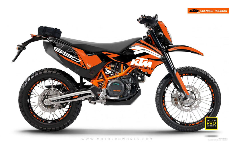 "KTM GRAPHIC KIT - ""ABSTRAKT"" (orange/black) - MotoProWorks 