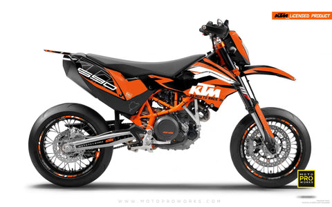 "KTM GRAPHIC KIT - ""ABSTRAKT"" (orange/black)"
