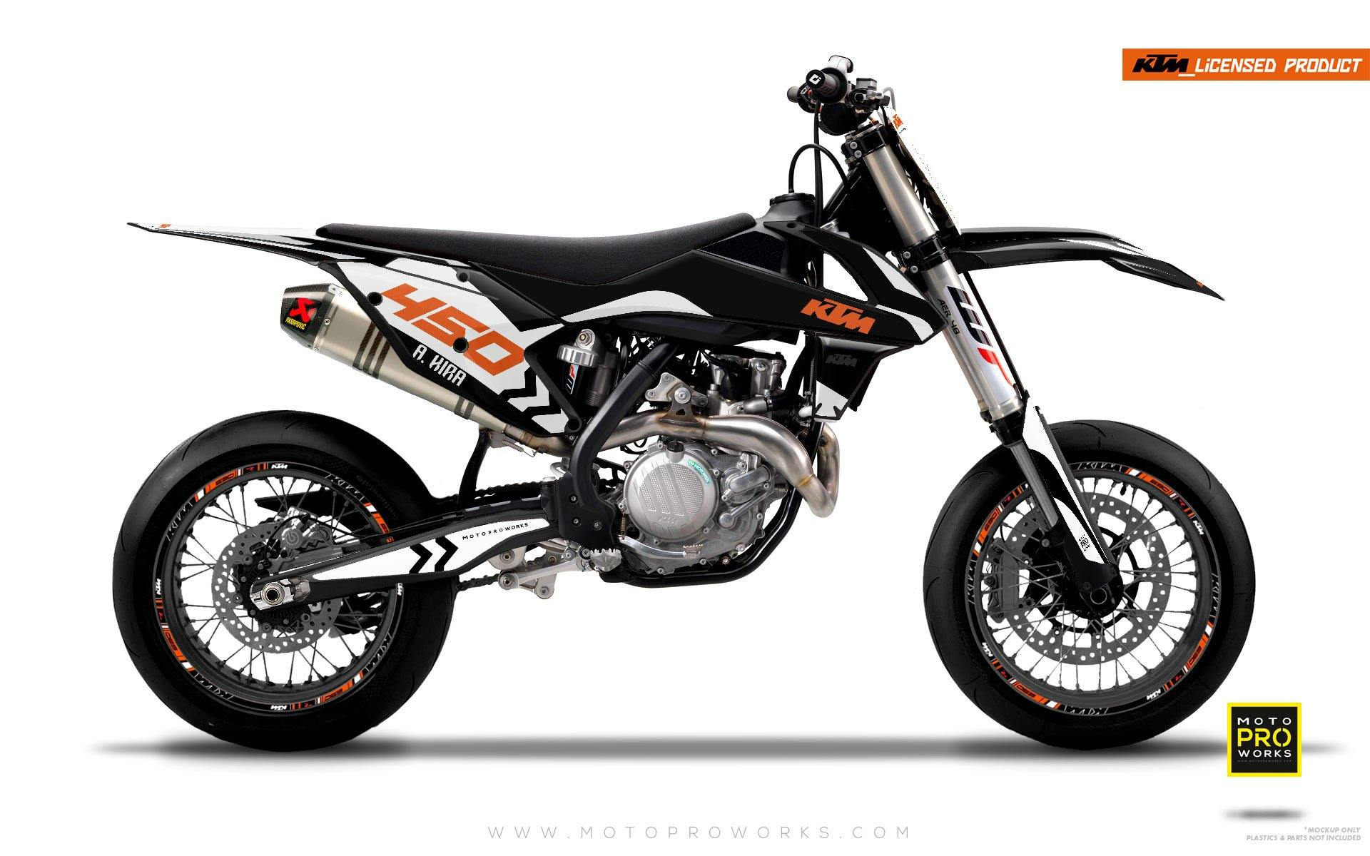 "KTM GRAPHIC KIT - ""ALITA"" (black/white) - MotoProWorks 