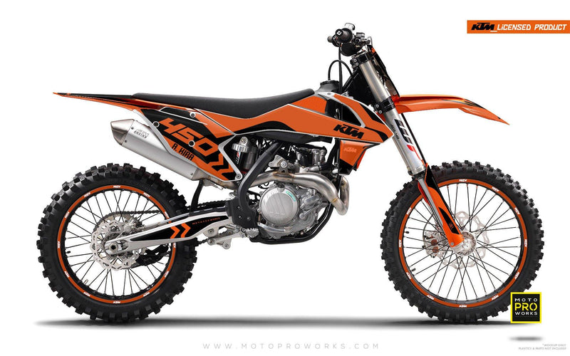"KTM GRAPHIC KIT - ""ALITA"" (orange) - MotoProWorks 