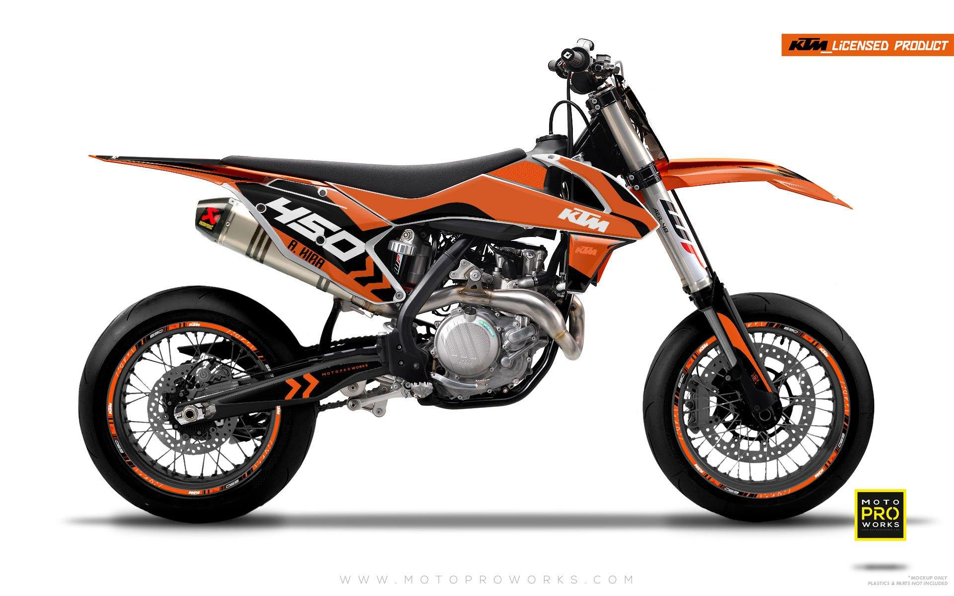 "KTM GRAPHIC KIT - ""ALITA"" (orange/black) - MotoProWorks 
