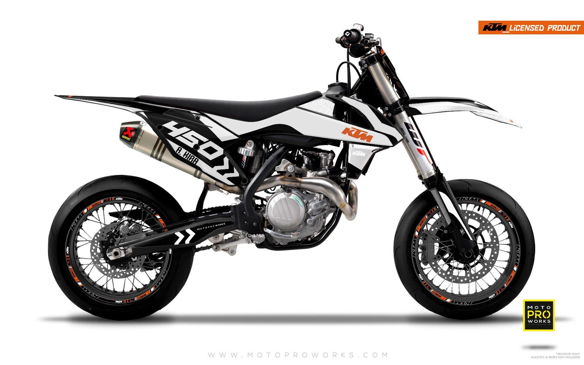 "KTM GRAPHIC KIT - ""ALITA"" (white) - MotoProWorks 