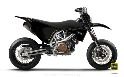 "Husqvarna GRAPHIC KIT - ""ARROW"" (Black) - MotoProWorks 