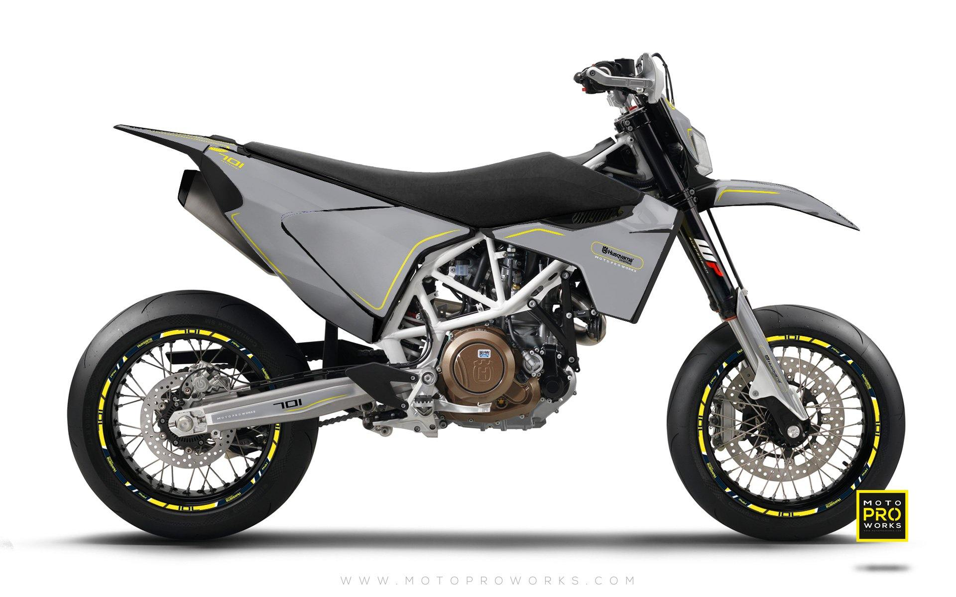 "Husqvarna GRAPHIC KIT - ""ARROW"" (Primer) - MotoProWorks 