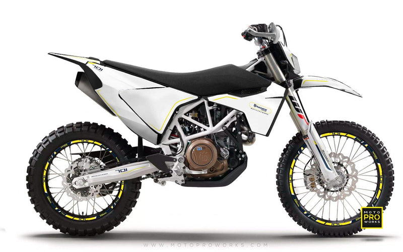 "Husqvarna GRAPHIC KIT - ""ARROW"" (White) - MotoProWorks 
