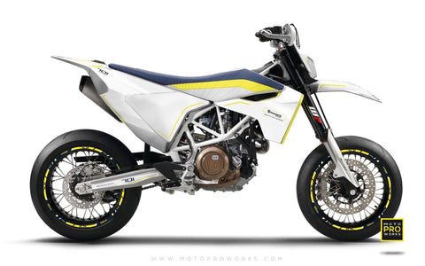 "Husqvarna GRAPHIC KIT - ""ARROW"" (White)"