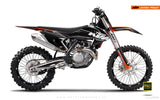 "KTM GRAPHIC KIT - ""EDGE"" (black/grey) - MotoProWorks 