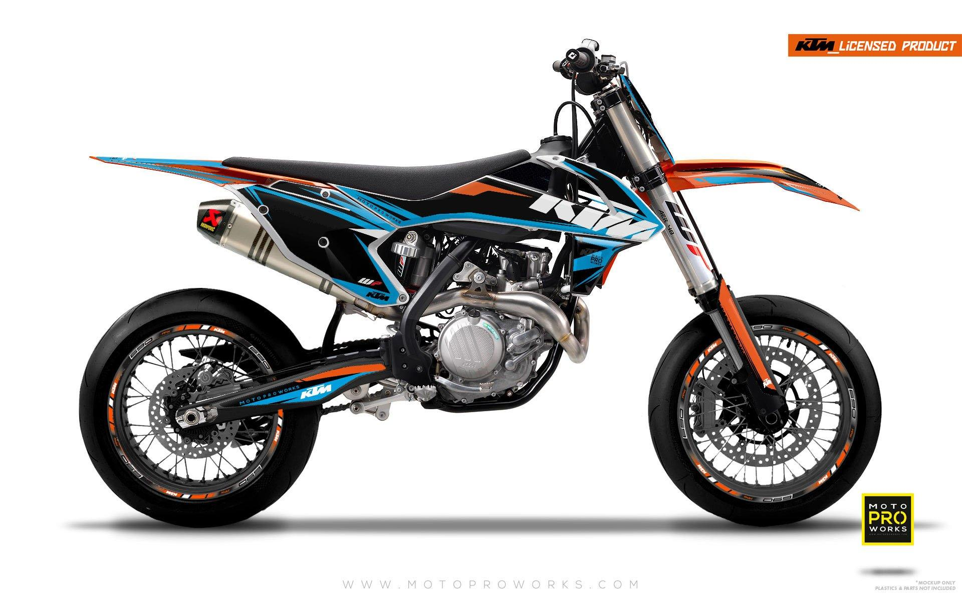 "KTM GRAPHIC KIT - ""EDGE"" (blue) - MotoProWorks 