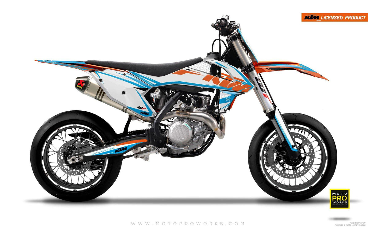 "KTM GRAPHIC KIT - ""EDGE"" (blue/white) - MotoProWorks 