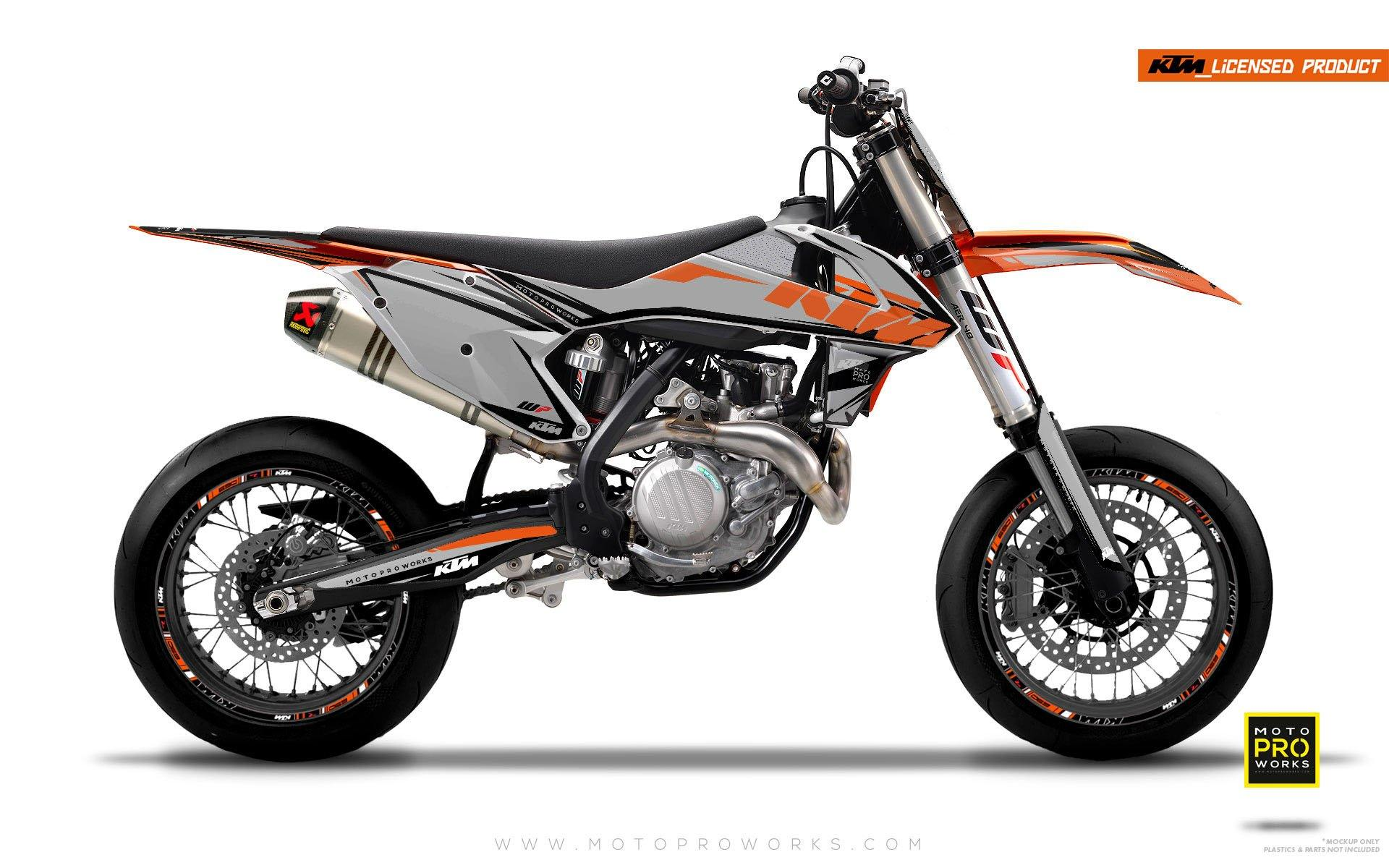 "KTM GRAPHIC KIT - ""EDGE"" (grey) - MotoProWorks 