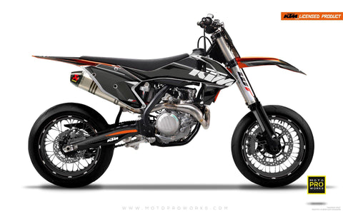 "KTM GRAPHIC KIT - ""EDGE"" (greyinvert) - MotoProWorks 