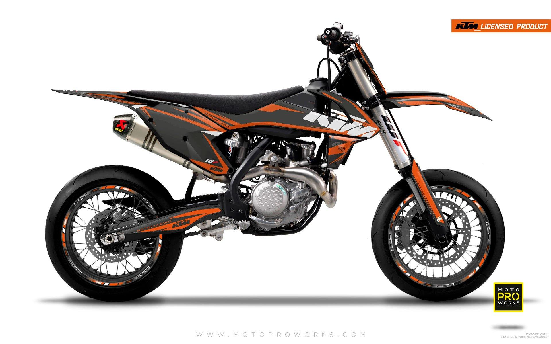 "KTM GRAPHIC KIT - ""EDGE"" (greyprimer) - MotoProWorks 