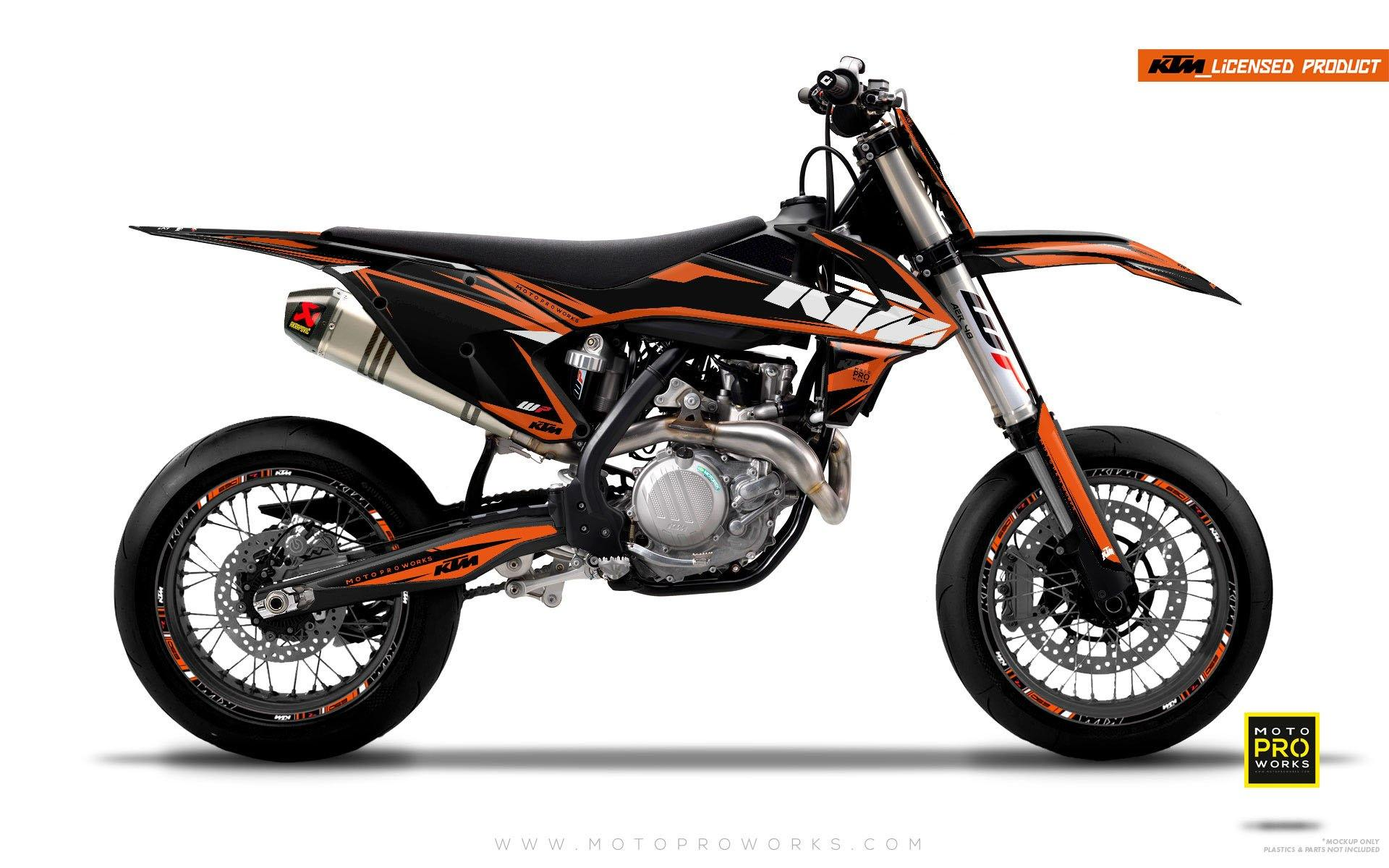 "KTM GRAPHIC KIT - ""EDGE"" (orange) - MotoProWorks 