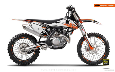 "KTM GRAPHIC KIT - ""EDGE"" (white) - MotoProWorks 