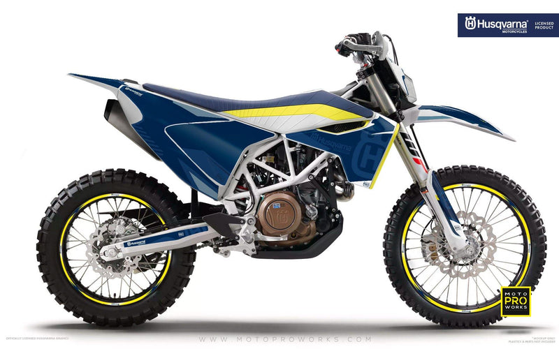 "Husqvarna GRAPHIC KIT - ""FACTOR"" (Blue) - MotoProWorks 