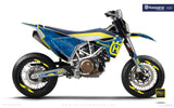 "Husqvarna GRAPHIC KIT - ""FACTOR"" (Marpatcamo/blue) - MotoProWorks 