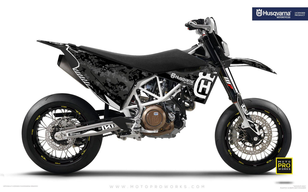 "Husqvarna GRAPHIC KIT - ""FACTOR"" (Marpatcamo/grey) - MotoProWorks 